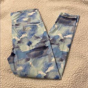 blue pattern aerie leggings